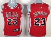 Wholesale Cheap Chicago Bulls #23 Michael Jordan Red Womens Jersey