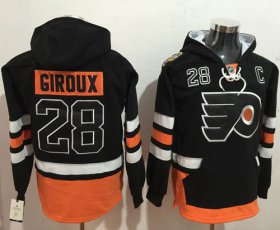Wholesale Cheap Flyers #28 Claude Giroux Black Name & Number Pullover NHL Hoodie