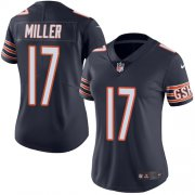 Wholesale Cheap Nike Bears #17 Anthony Miller Navy Blue Team Color Women's Stitched NFL Vapor Untouchable Limited Jersey