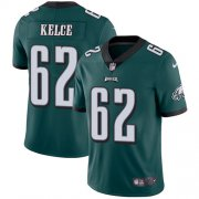 Wholesale Cheap Nike Eagles #62 Jason Kelce Midnight Green Team Color Men's Stitched NFL Vapor Untouchable Limited Jersey