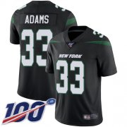 Wholesale Cheap Nike Jets #33 Jamal Adams Black Alternate Youth Stitched NFL 100th Season Vapor Limited Jersey