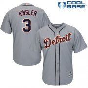 Wholesale Cheap Tigers #3 Ian Kinsler Grey Cool Base Stitched Youth MLB Jersey