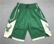 Wholesale Cheap Men's Milwaukee Bucks Green Stitched NBA Nike Swingman Shorts