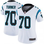 Wholesale Cheap Nike Panthers #70 Trai Turner White Women's Stitched NFL Vapor Untouchable Limited Jersey
