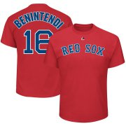 Wholesale Cheap Boston Red Sox #16 Andrew Benintendi Majestic Official Name & Number T-Shirt Red