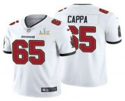 Wholesale Cheap Men's Tampa Bay Buccaneers #65 Alex Cappa White 2021 Super Bowl LV Limited Stitched NFL Jersey