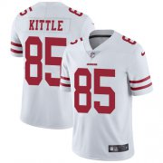 Wholesale Cheap Nike 49ers #85 George Kittle White Youth Stitched NFL Vapor Untouchable Limited Jersey