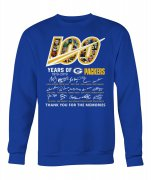 Wholesale Cheap Green Bay Packers 100 Seasons Memories Pullover Sweatshirt Royal
