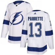 Cheap Adidas Lightning #13 Cedric Paquette White Road Authentic Youth Stitched NHL Jersey