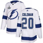 Cheap Adidas Lightning #20 Blake Coleman White Road Authentic Youth 2020 Stanley Cup Champions Stitched NHL Jersey