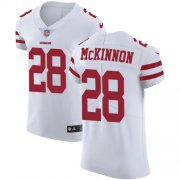 Wholesale Cheap Nike 49ers #28 Jerick McKinnon White Men's Stitched NFL Vapor Untouchable Elite Jersey