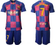 Wholesale Cheap Barcelona #7 Coutinho 20th Anniversary Edition Home Soccer Club Jersey