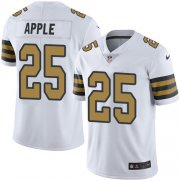 Wholesale Cheap Nike Saints #25 Eli Apple White Men's Stitched NFL Limited Rush Jersey