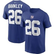 Wholesale Cheap New York Giants #26 Saquon Barkley Nike Team Player Name & Number T-Shirt Royal