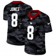 Cheap New York Giants #8 Daniel Jones Men's Nike 2020 Black CAMO Vapor Untouchable Limited Stitched NFL Jersey