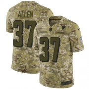 Wholesale Cheap Nike Falcons #37 Ricardo Allen Camo Men's Stitched NFL Limited 2018 Salute To Service Jersey