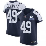 Wholesale Cheap Nike Cowboys #49 Jamize Olawale Navy Blue Thanksgiving Men's Stitched With Established In 1960 Patch NFL Vapor Untouchable Throwback Elite Jersey