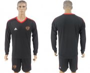 Wholesale Cheap Russia Blank Black Long Sleeves Goalkeeper Soccer Country Jersey