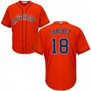 Wholesale Cheap Astros #18 Aaron Sanchez Orange New Cool Base Stitched MLB Jersey