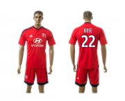 Wholesale Cheap Lyon #22 Rose Away Soccer Club Jersey