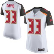 Wholesale Cheap Nike Buccaneers #33 Carlton Davis III White Women's Stitched NFL New Elite Jersey