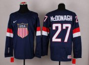 Wholesale Cheap 2014 Olympic Team USA #27 Ryan McDonagh Navy Blue Stitched NHL Jersey