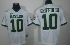 Wholesale Cheap Baylor Bears #10 Robert Griffin III White Jersey