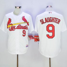 Wholesale Cheap Cardinals #9 Enos Slaughter White Cool Base Stitched MLB Jersey