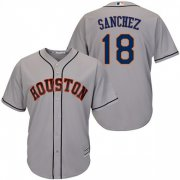 Wholesale Cheap Astros #18 Aaron Sanchez Grey New Cool Base Stitched MLB Jersey