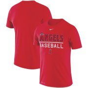 Wholesale Cheap Los Angeles Angels Nike Practice Performance T-Shirt Red