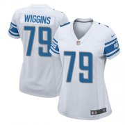 Wholesale Cheap Nike Lions #79 Kenny Wiggins White Women's Stitched NFL Elite Jersey