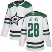 Cheap Adidas Stars #28 Stephen Johns White Road Authentic Youth Stitched NHL Jersey