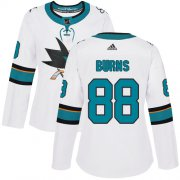 Wholesale Cheap Adidas Sharks #88 Brent Burns White Road Authentic Women's Stitched NHL Jersey