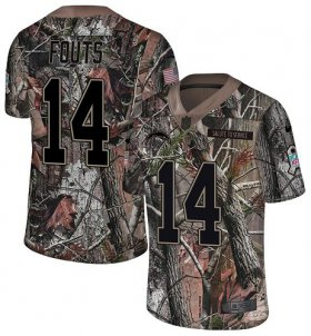 Wholesale Cheap Nike Chargers #14 Dan Fouts Camo Youth Stitched NFL Limited Rush Realtree Jersey