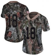 Wholesale Cheap Nike Eagles #18 Jalen Reagor Camo Women's Stitched NFL Limited Rush Realtree Jersey