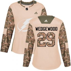 Cheap Adidas Lightning #29 Scott Wedgewood Camo Authentic 2017 Veterans Day Women\'s Stitched NHL Jersey
