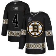 Wholesale Cheap Adidas Bruins #4 Bobby Orr Black Authentic Team Logo Fashion Stanley Cup Final Bound Stitched NHL Jersey