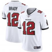 Wholesale Cheap Tampa Bay Buccaneers #12 Tom Brady Men's Nike White Vapor Limited Jersey