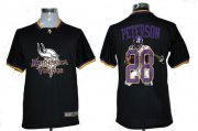 Wholesale Cheap Nike Vikings #28 Adrian Peterson Black Men's NFL Game All Star Fashion Jersey