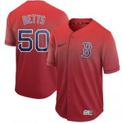 Wholesale Cheap Nike Red Sox #50 Mookie Betts Red Fade Authentic Stitched MLB Jersey