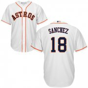 Wholesale Cheap Astros #18 Aaron Sanchez White New Cool Base Stitched MLB Jersey