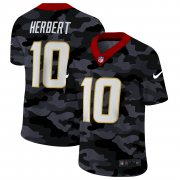 Cheap Los Angeles Chargers #10 Justin Herbert Men's Nike 2020 Black CAMO Vapor Untouchable Limited Stitched NFL Jersey