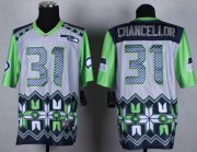 Wholesale Cheap Nike Seahawks #31 Kam Chancellor Grey Men's Stitched NFL Elite Noble Fashion Jersey