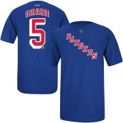Wholesale Cheap New York Rangers #5 Dan Girardi Reebok Name and Number Player T-Shirt Royal