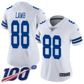 Wholesale Cheap Nike Cowboys #88 CeeDee Lamb White Women\'s Stitched NFL 100th Season Vapor Untouchable Limited Jersey