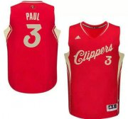 Wholesale Cheap Men's Los Angeles Clippers #3 Chris Paul Revolution 30 Swingman 2015 Christmas Day Red Jersey