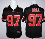 Wholesale Cheap Men's Ohio State Buckeyes #97 Joey Bosa Black 2015 College Football Nike Limited Jersey