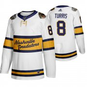 Wholesale Cheap Adidas Predators #8 Kyle Turris Men's White 2020 Winter Classic Retro Authentic NHL Jersey