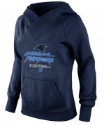 Wholesale Cheap Women's Carolina Panthers Big & Tall Critical Victory Pullover Hoodie Navy Blue