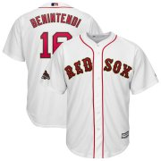 Wholesale Cheap Boston Red Sox #16 Andrew Benintendi Majestic 2019 Gold Program Cool Base Player Jersey White